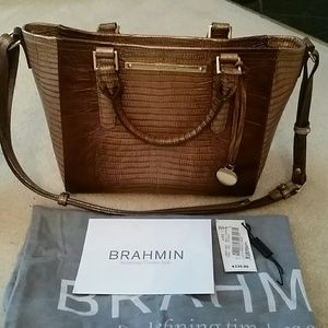 Brahmin Mini Arno Lizard purse
